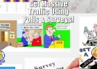 polls surveys get massive traffic