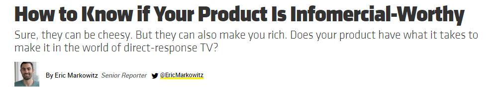 Product Infomercial