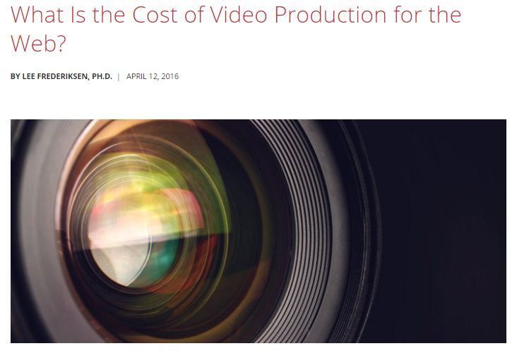 cost Of Video Production
